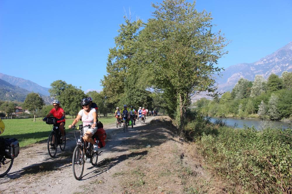 Ciclovia Aida in bici