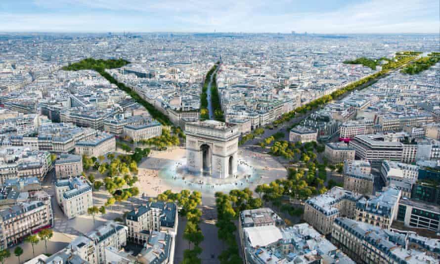 Parigi Champs-Élysées  giardino