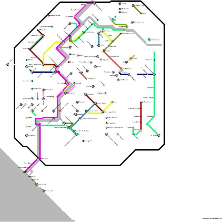 Situazione attuale 2021 prima dell'implementazione della Ciclopolitana