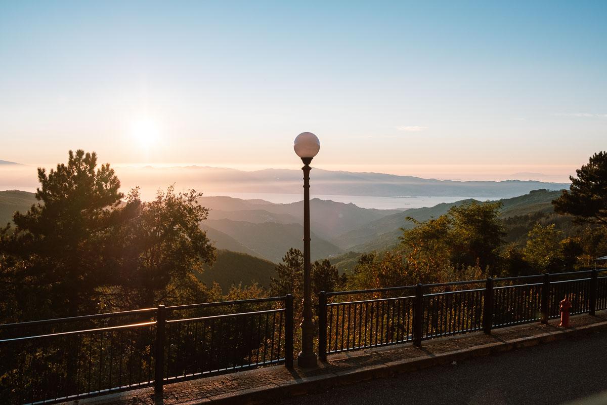 Ciclovia dei Parchi della Calabria: panorama dall'Aspromonte