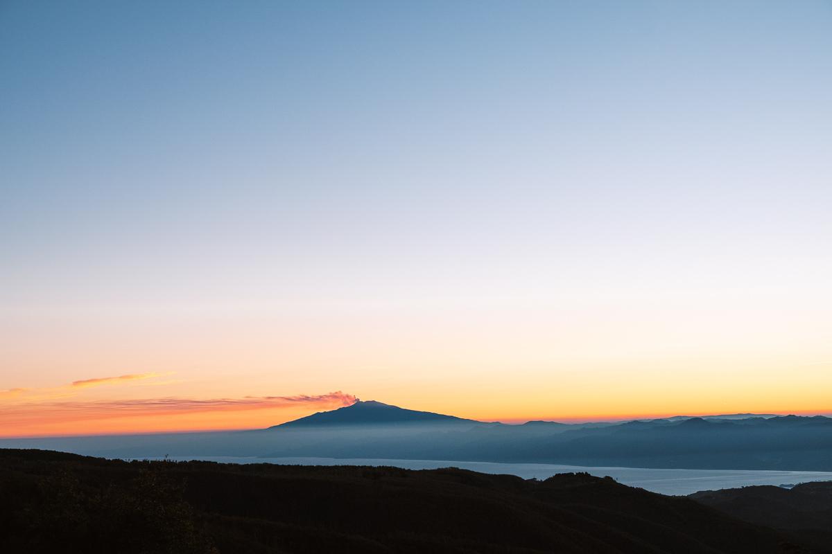 L'Etna visto dall'Aspromonte