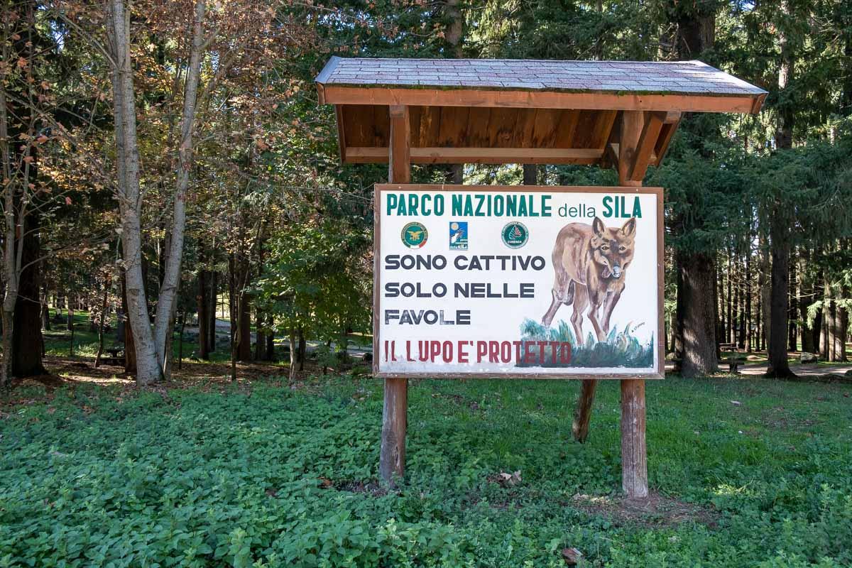 Parco Nazionale della Sila - cartello lupo