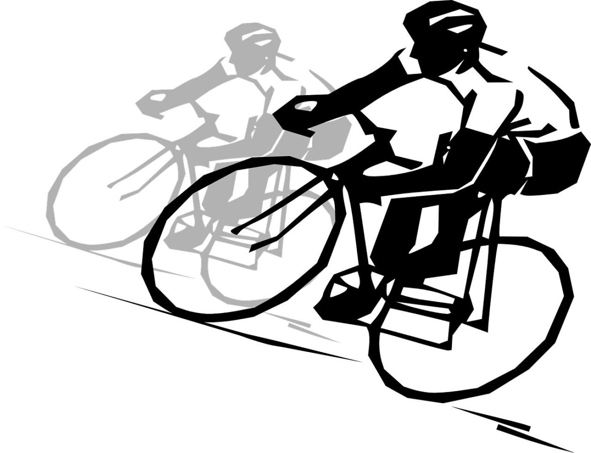Allenamento in bicicletta ciclista che pedala