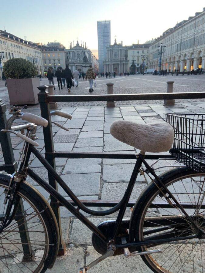 Coprisellino lana bici