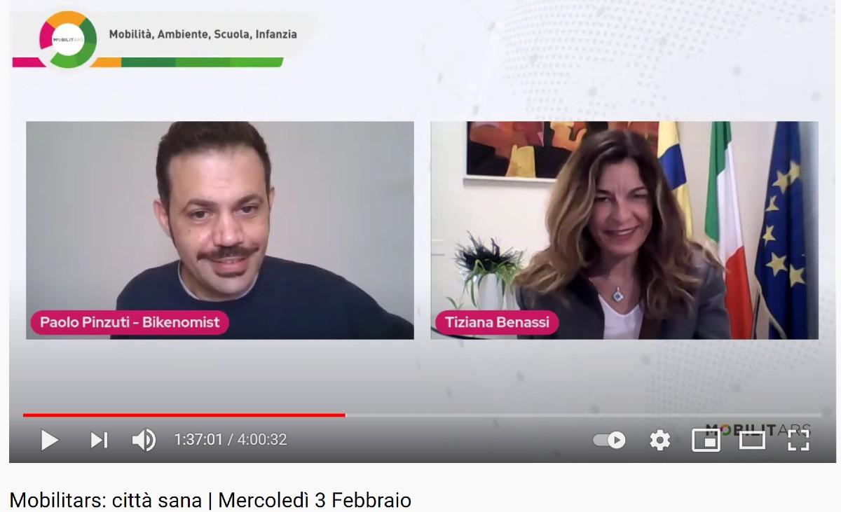 Paolo Pinzuti ceo di Bikenomist e Tiziana Benassi Assessora alle politiche di sostenibilità ambientale del Comune di Parma