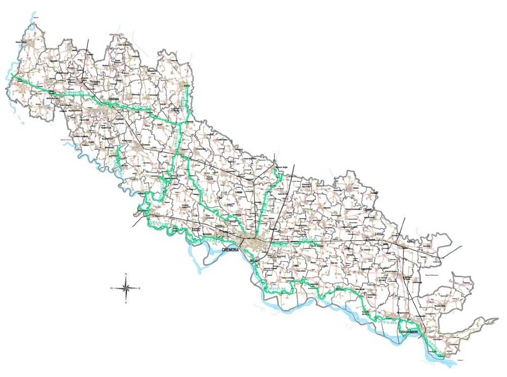 Itinerari ciclabili Provincia di Cremona