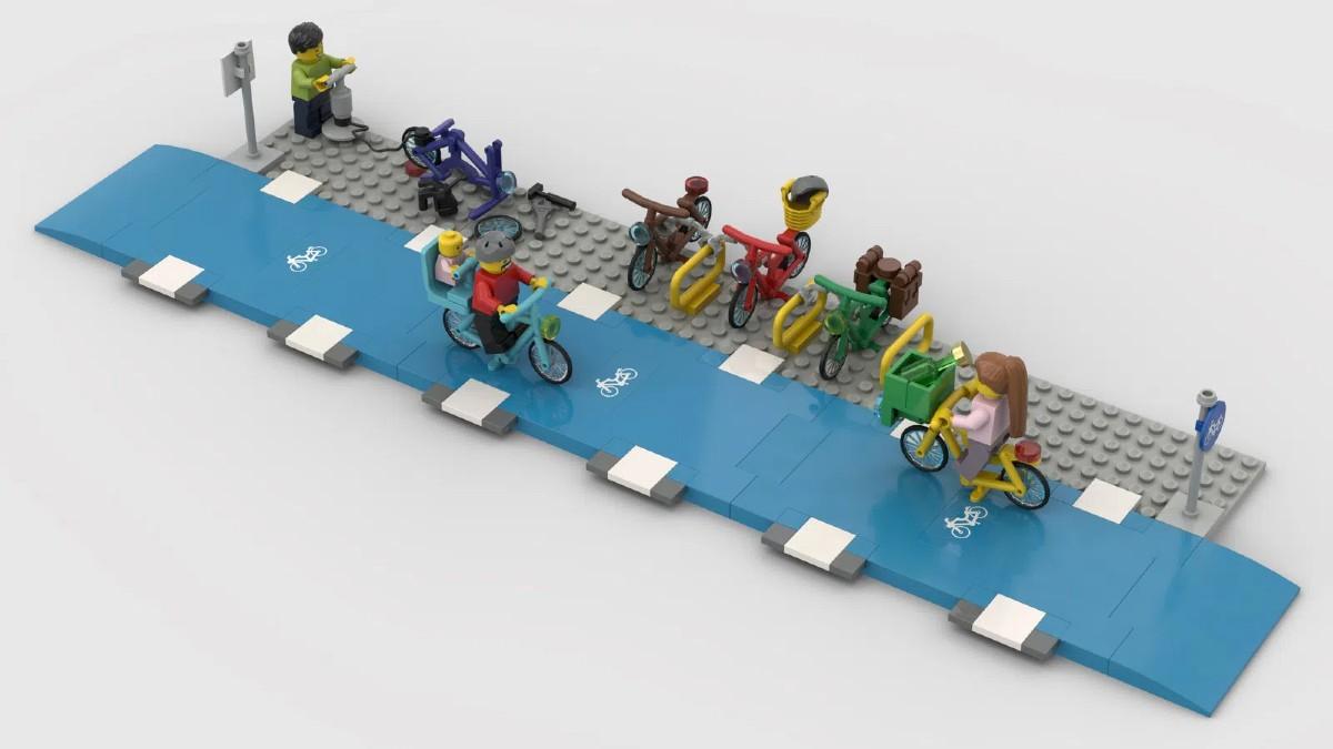 Corsia ciclabile Lego Ideas proposta