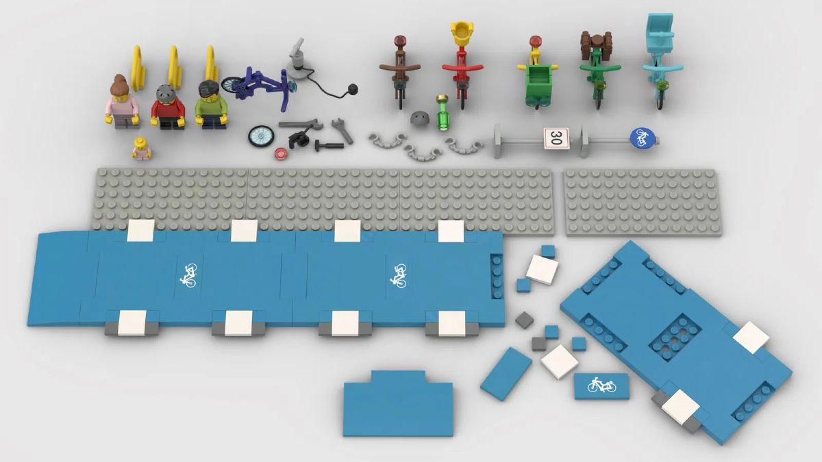Costruzioni Lego corsia ciclabile