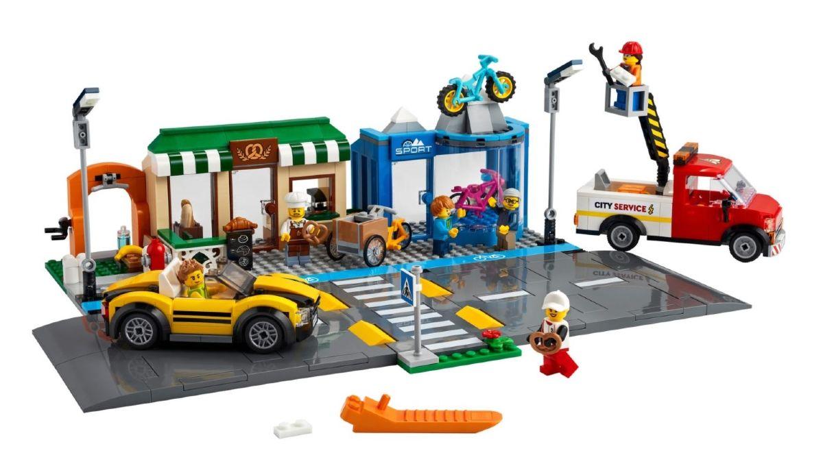 Shopping Street Lego con corsia ciclabile