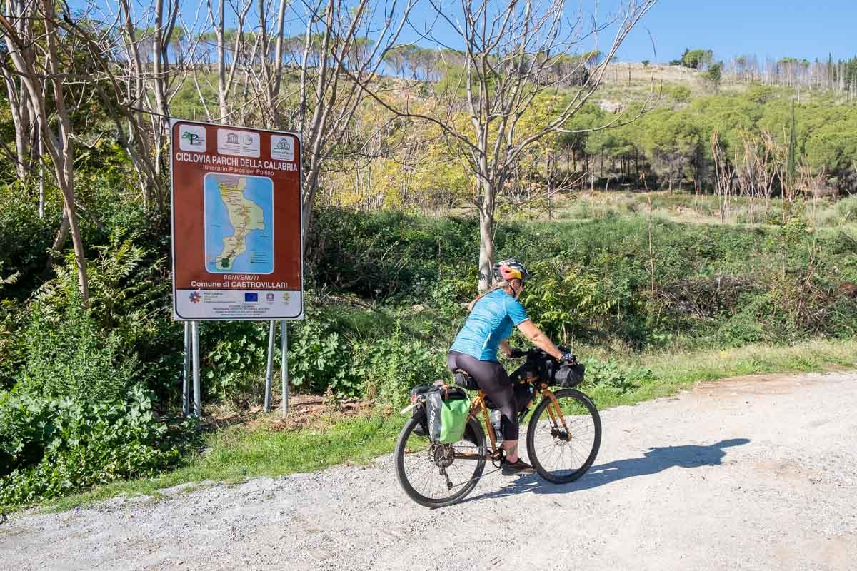 Cartello Ciclovia Parchi della Calabria
