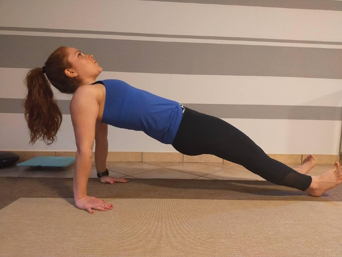 Core training triathlon plank inverso