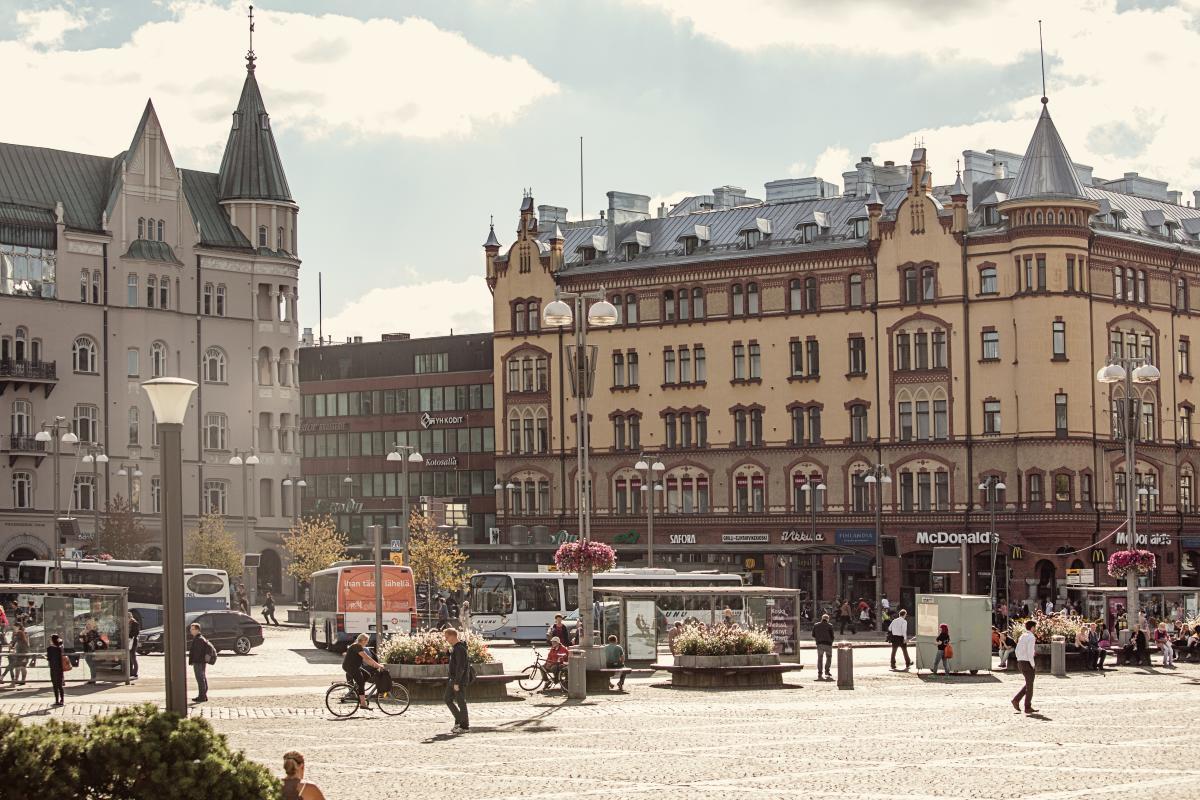 Tampere in bicicletta Finlandia
