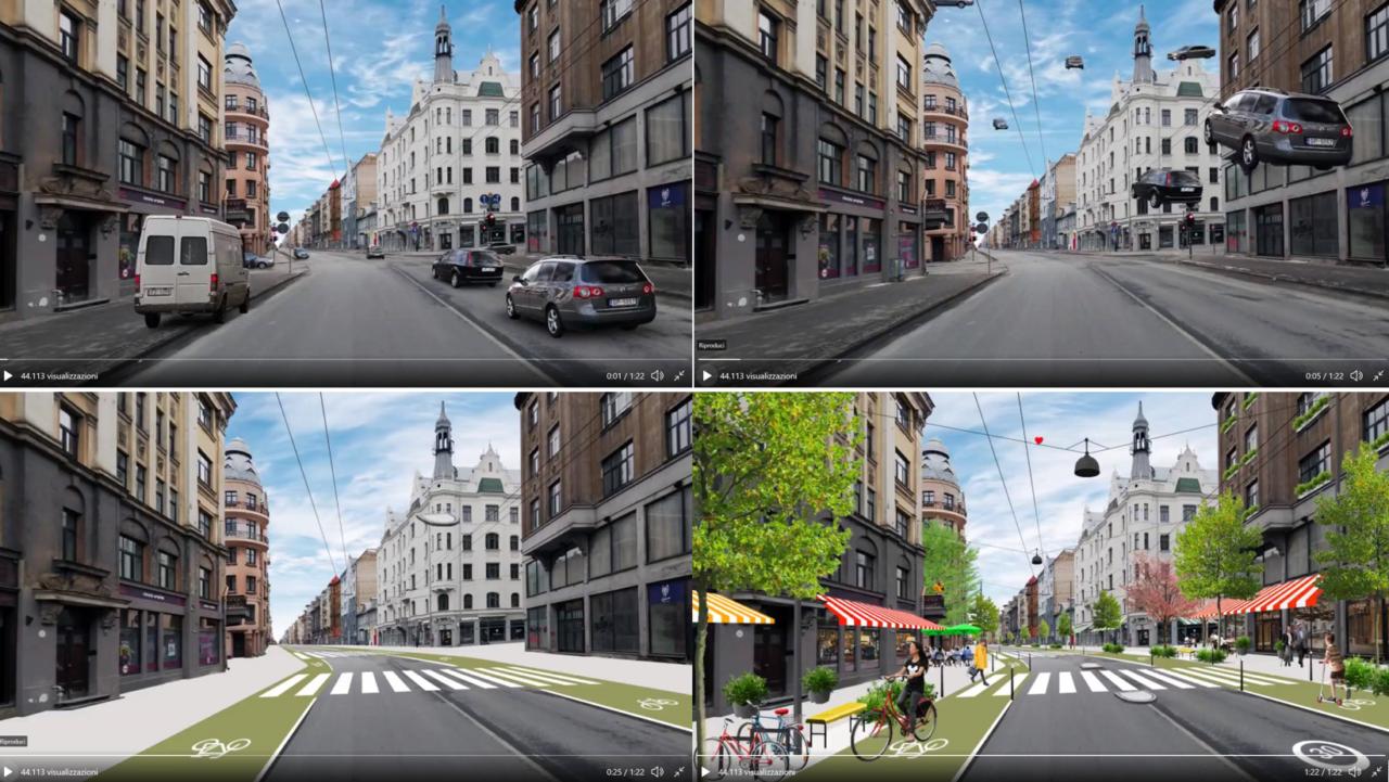 Da autostrada urbana in via residenziale: meno auto più persone