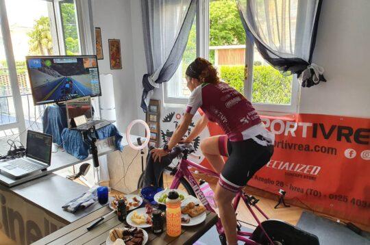 Paola Gianotti rulli in casa