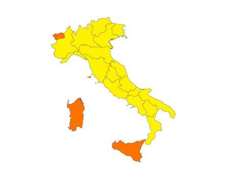 10 Maggio 2021 colori delle regioni Covid-19