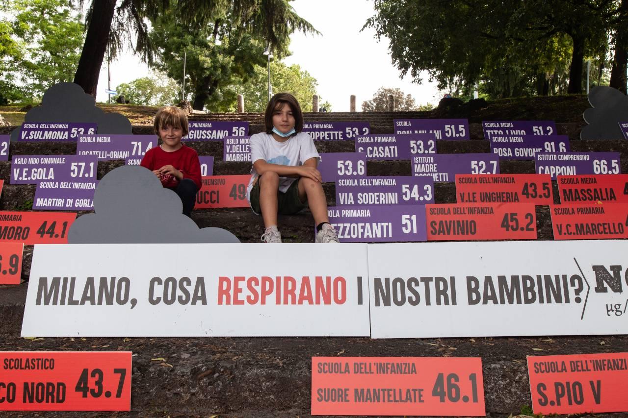 Milano inquinamento aria bambini