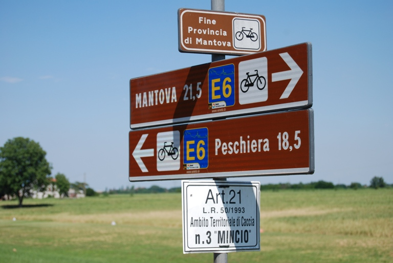 Pista ciclabile Mantova - Peschiera del Garda, ciclotursimo
