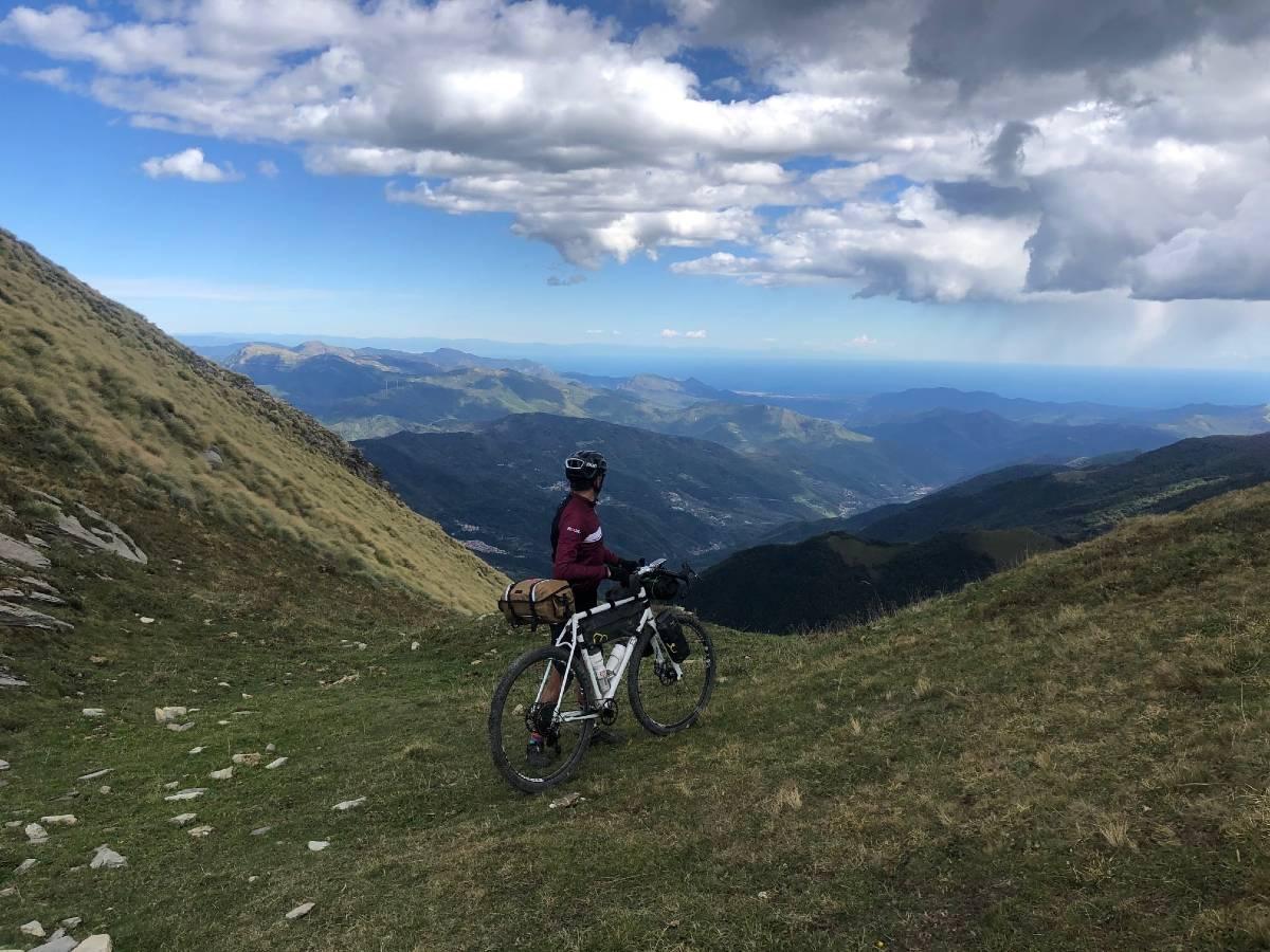 Liguria Bike Trail panorama montagna