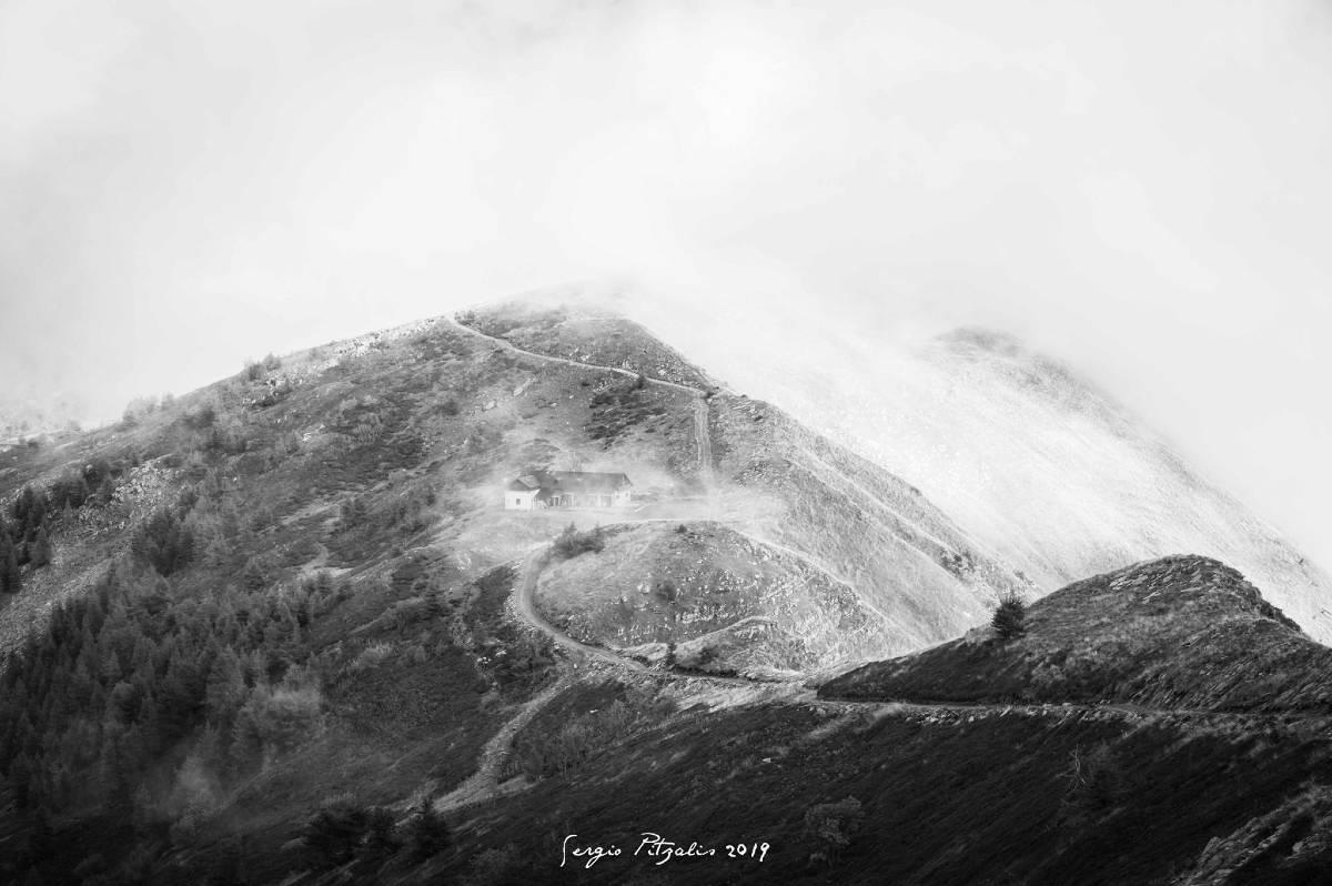 Panorama bianco e nero Liguria
