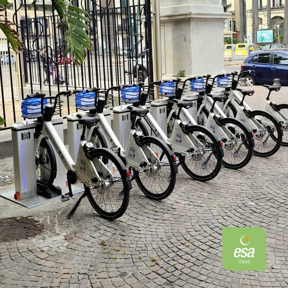 Stazione bike sharing Napoli