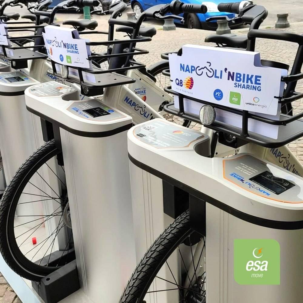 Napoli bike sharing mezzi sponsor Q8