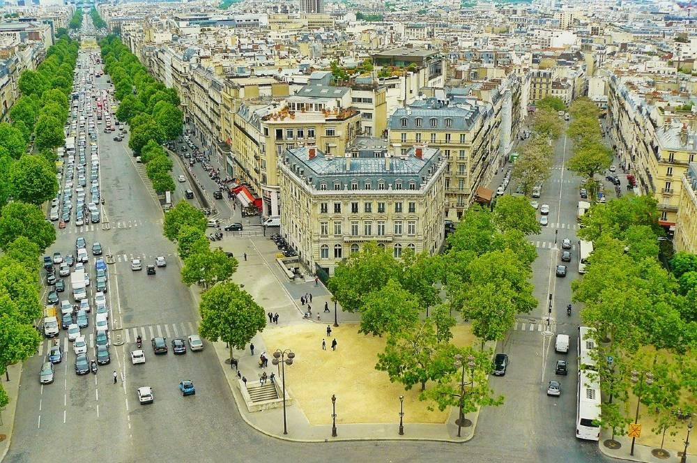 Parigi strade verde