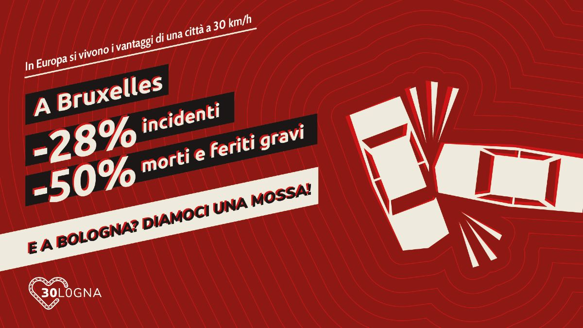 Bruxelles meno incidenti e meno morti e feriti gravi sulle strade grazie al limite di 30 km/h, questo il messaggio veicolato dalla campagna 30logna