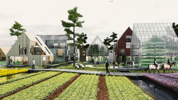 Render eco-quartiere Amburgo car-free