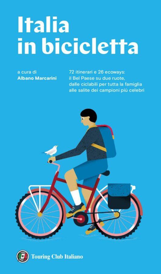 Copertina della Guida del Touring a cura di Albano Marcarini l'Italia in bicicletta