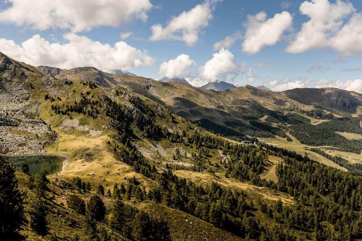 Pila Bikeland panorama montagne Valle d'Aosta