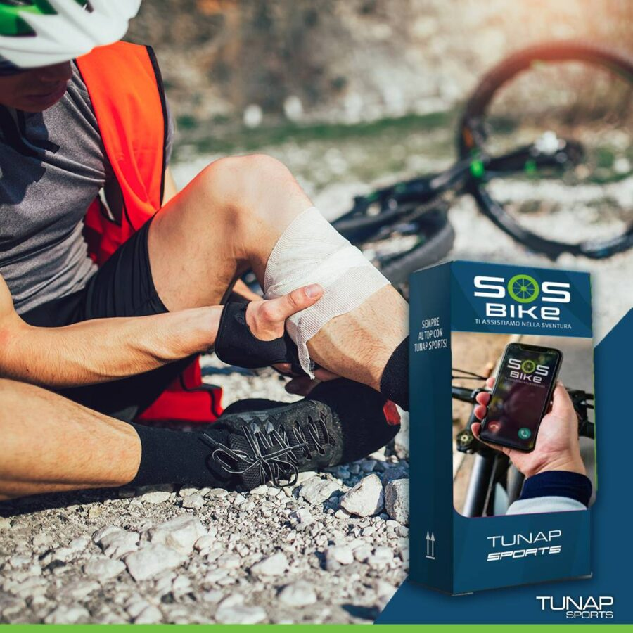 SOS BIKE soccorso per incidenti in bicicletta assicurazione ciclista TUNAP SPORTS