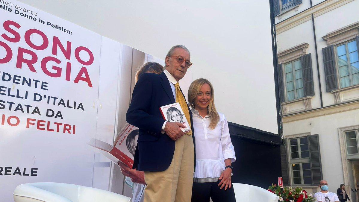 Vittorio Feltri e Giorgia Meloni