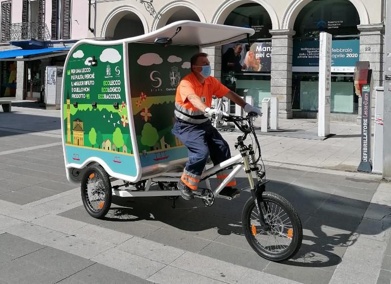 cargo bike raccolta rifiuti