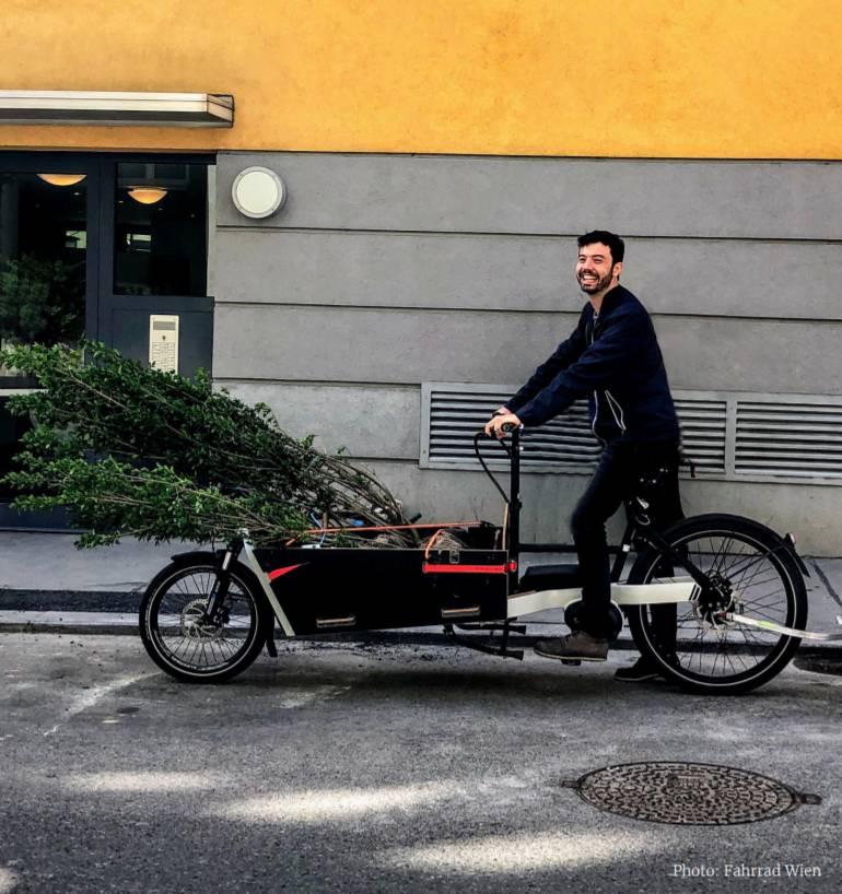 Cargo bike amica dell'ambiente
