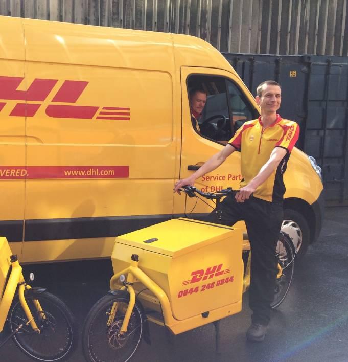 Cargo bike DHL consegne in bicicletta ciclologistica