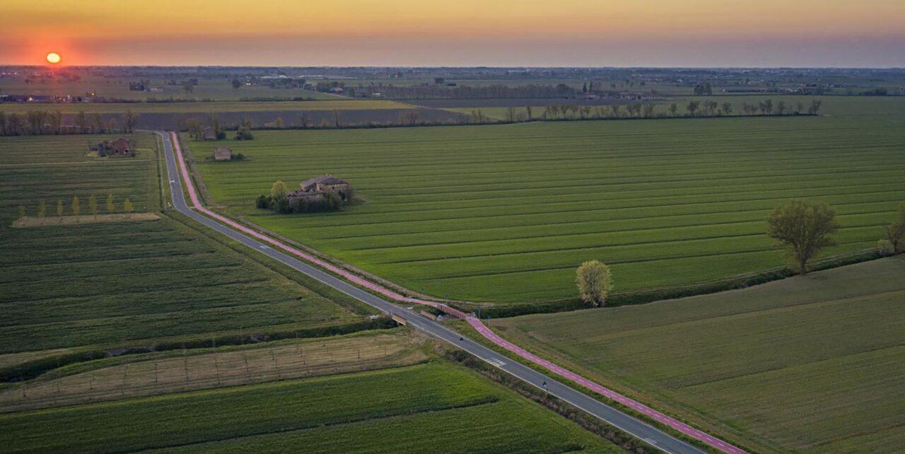 ciclabile Food Valley Bike vista dall'alto