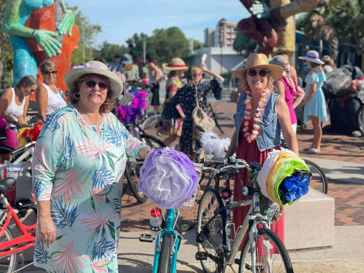 fancy women bike ride tampa florida