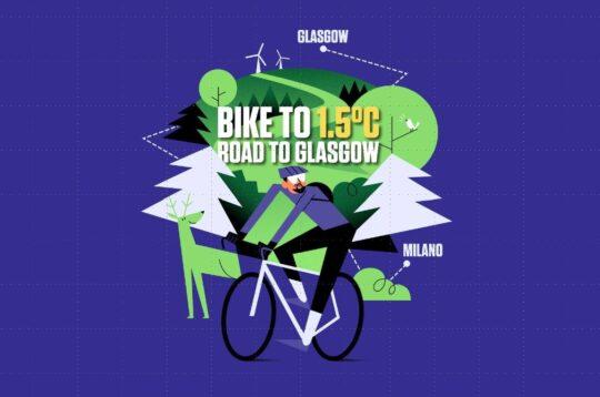 Omar Di Felice in bici da Milano a Glasgow per la COP26 sul clima